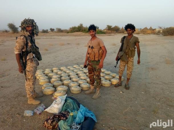 الجيش اليمني ينتزع 120 لغما زرعتها ميليشيا الحوثي في قرية بحجة